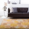 Meticulously Woven Circles Geometric Abstract Rug (7&#39;6 x 10&#39;6)