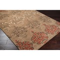 Hand-tufted Brown Floral Rug (8' x 11')