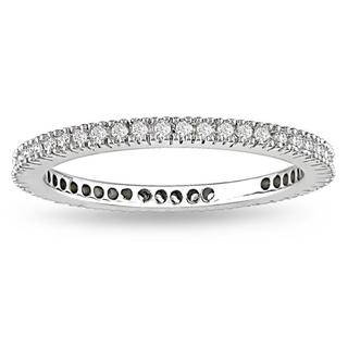 18k White Gold 1/3ct TDW Certified Diamond Wedding Band (G-H, SI1-SI2)