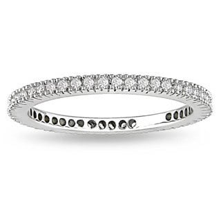 18k White Gold 1/3ct TDW Certified White Diamond Band (G-H, SI1-SI2)
