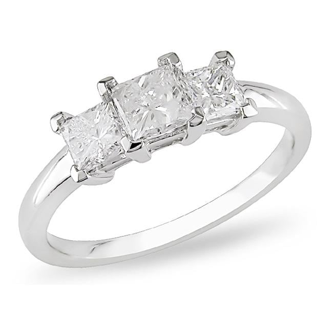 14k White Gold 1ct TDW Diamond 3-stone Ring (G-H, I1-I2)