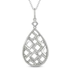 M by Miadora Sterling Silver 1/4ct TDW Diamond Necklace (G-H, I2-I3)
