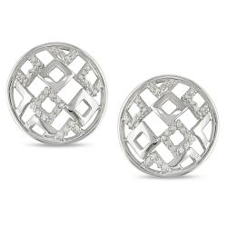 Miadora Sterling Silver 1/5ct TDW Diamond Earrings (G-H, I2-I3)