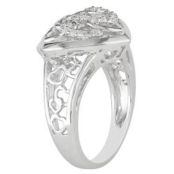M by Miadora Sterling Silver 1/10ct TDW Diamond Heart Ring (G-H, I2-I3)