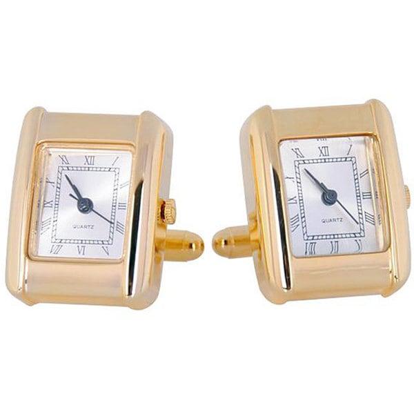 Cuff Daddy Goldplated Elegant Square Watch Cuff Links