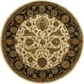 Hand-tufted Mandara Beige New Zealand Wool Rug (7'9 Round)