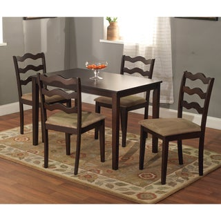 Riviera Espresso 5-piece Dining Set