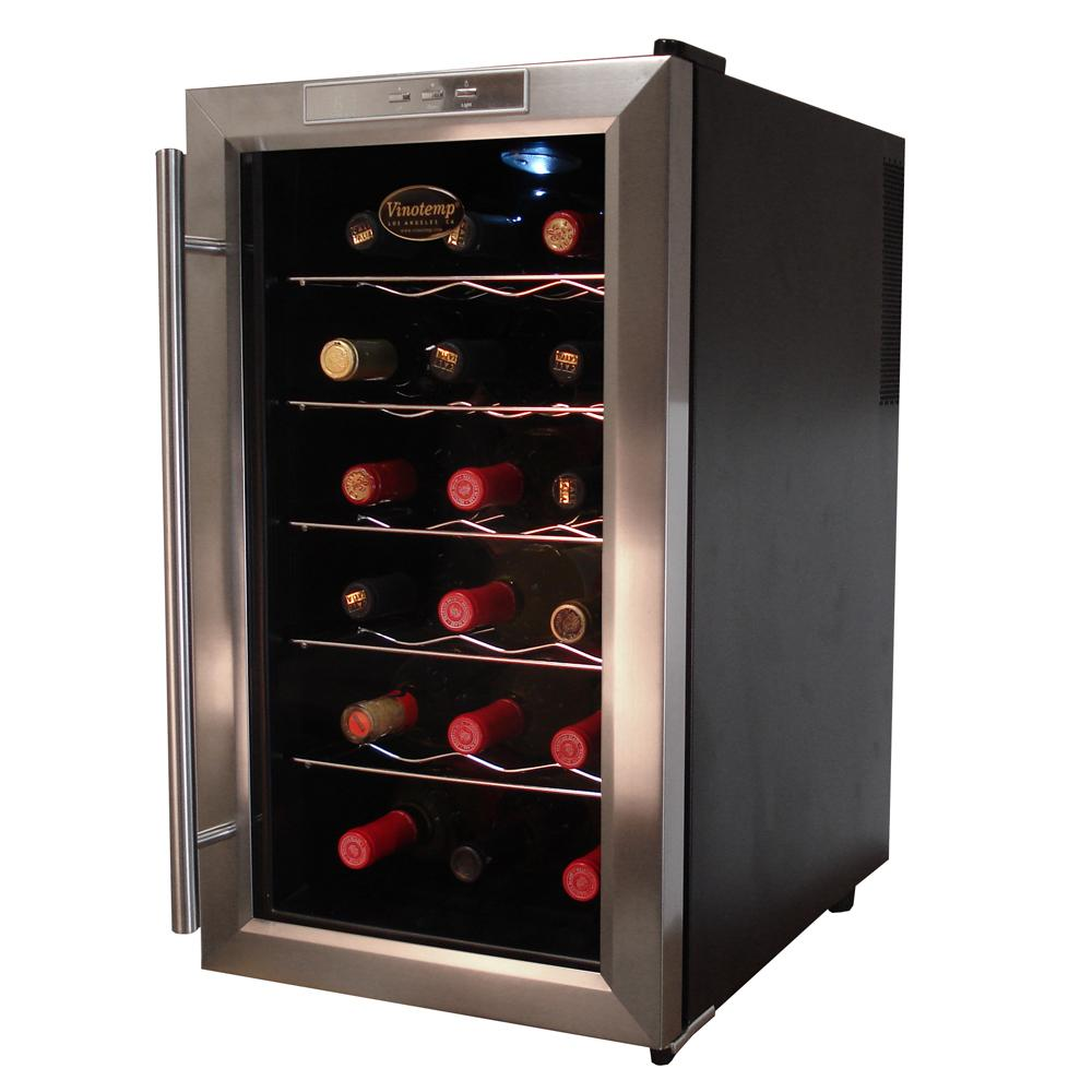 Electric Wine Cellar : Vinotemp wine chiller bottle vt teds sears