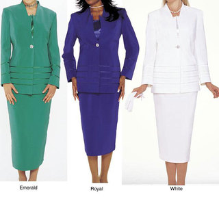 Divine Apparel Women's 3-piece Skirt Suit