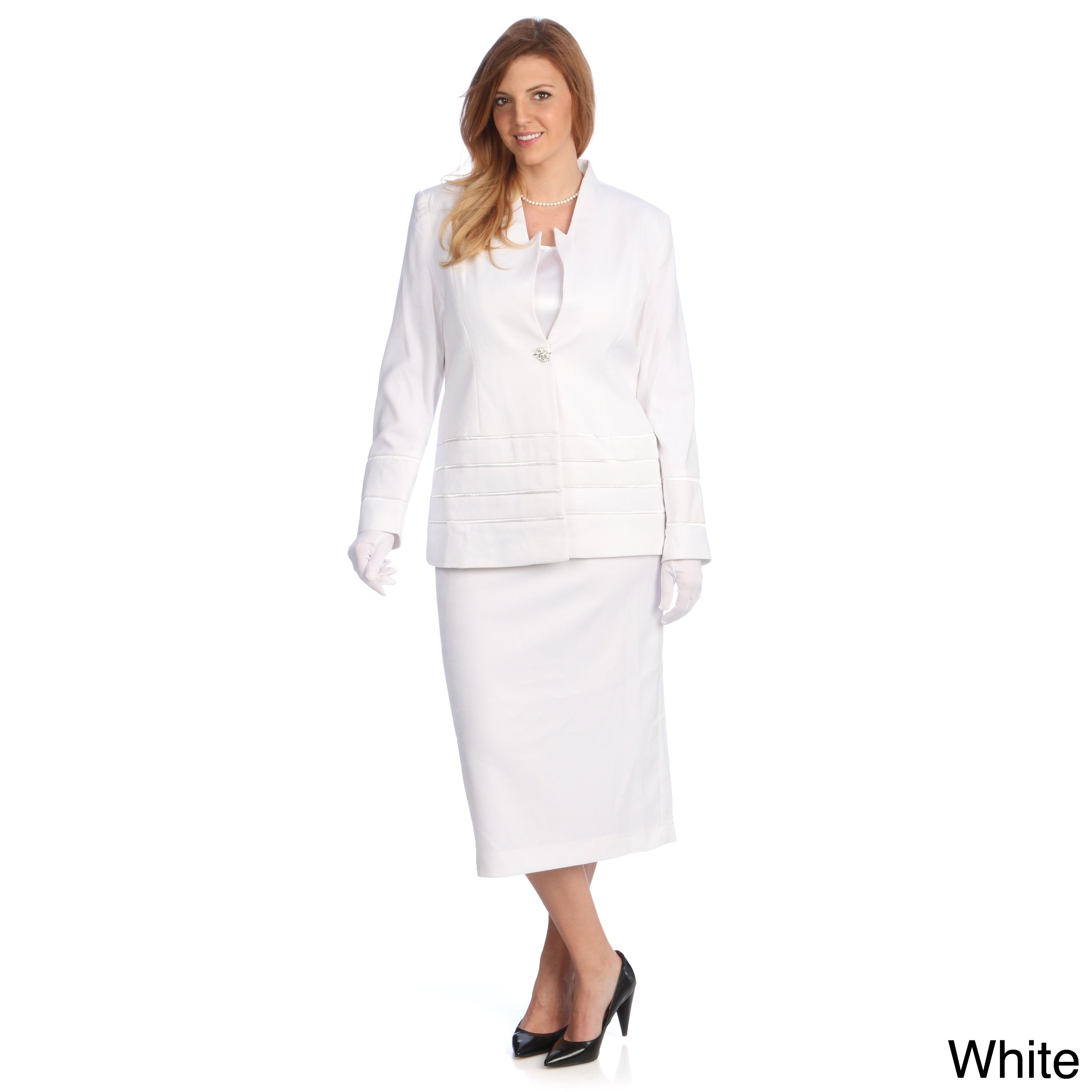 White Skirt Suit For Women 94