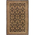 Set of 2 Hand-knotted Valence Cocoa Wool Rugs (2' x 3')