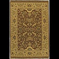 Hand-knotted Sangli Brown Wool Rug (2' x 3') (Set of 2)
