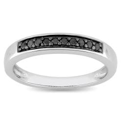 M by Miadora Sterling Silver 1/10ct TDW Black Diamond Ring