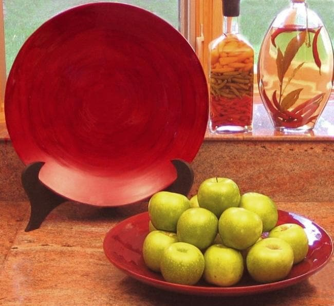 Hand-crafted Bamboo Serving Platters (Set of 2)