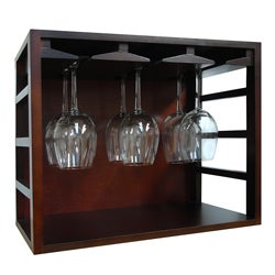 Epicureanist Stackable Wood Wine Glass Rack