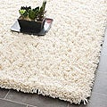 Safavieh Hand-woven Bliss Ivory Shag Rug (3' x 5')