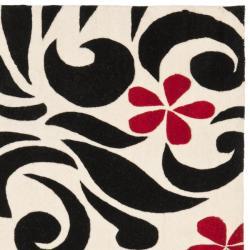 Safavieh Handmade Soho Floral Ivory New Zealand Wool Rug (6' Square)