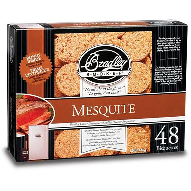 Bradley Smoker Mesquite Bisquettes (Case of 48)