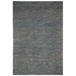 Hand-woven Haneul Blue Hemp Rug (8' x 10')