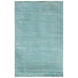 Hand-loomed Haiden Blue Wool/ Viscose Rug (8' x 10')