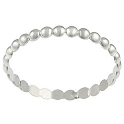 Journee Collection Sterling Silver Beaded Ring