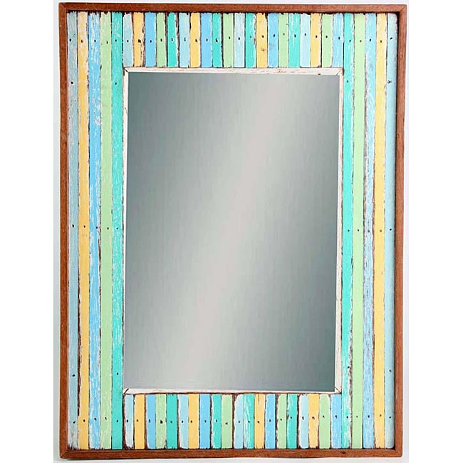 Woodstriped Beauty Mirror (Thailand)