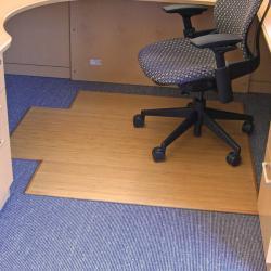 Eco Bamboo Supreme Natural Chair Mat (47 x 51)