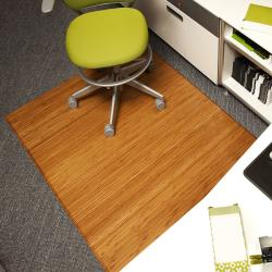 Eco Bamboo Supreme Rectangular Natural Chair Mat (60' x 47')