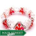 Crystal and Rhinestone Red Stretch Bracelet