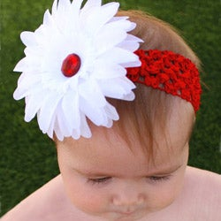 Headbandz Holiday White Flower Headband