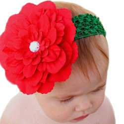 Headbandz Unique Christmas Flower with Headband