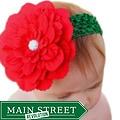 Headbandz Unique Christmas Flower with Headband
