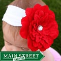 Headbandz Unique Red Flower with Headband