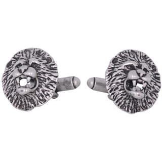 Cuff Daddy Lion Head Pewter Cuff Links