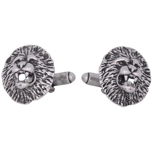 Cuff Daddy Lion Head Pewter Cuff Links