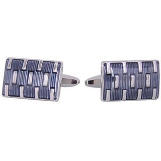 Cuff Daddy Rhodium Silver Galvanized Cufflinks