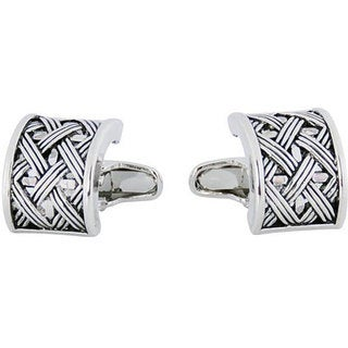 Cuff Daddy Rhodium Urban Lattice Cufflinks
