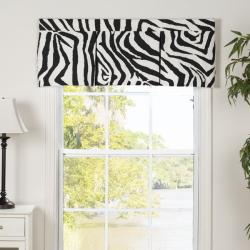 Zebra Pleated Valance