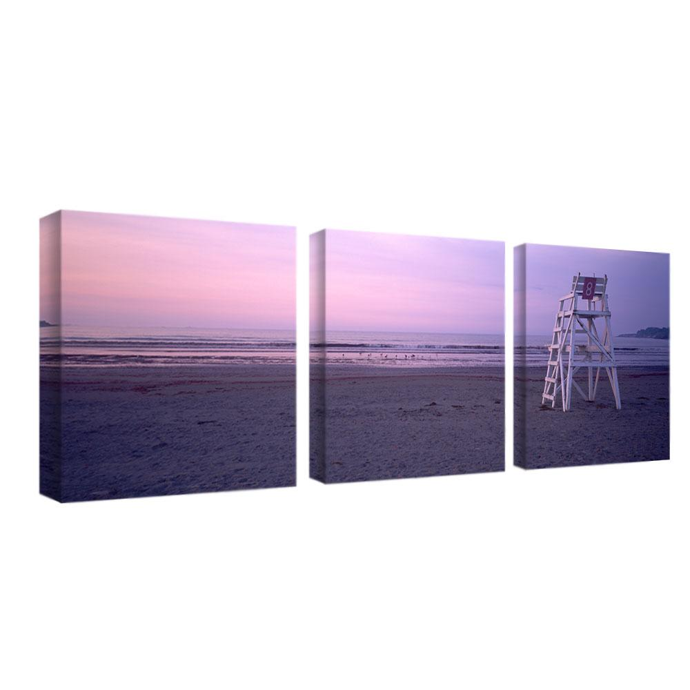 Preston 'Beach Chair' 3-panel Art Set