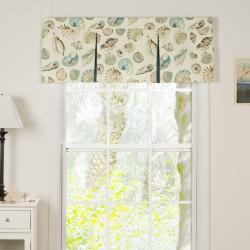 Sea Shells Pleated Valance