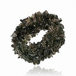 Glitzy Rocks Smokey Quartz Multi-row Stretch Bracelet