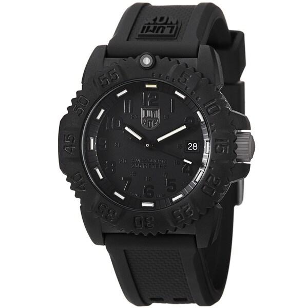 Luminox 'Colormark' Blackout Watch