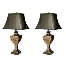 Indoor 1-light Zebra Table Lamps (Set of 2)