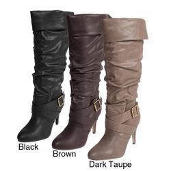 Adi Designs Women's 'Betsy-15' Strappy Knee-high Boots