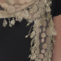 Hailey Jeans Co. Pretty Angel Women's Lacy Linen/Polyester Scarf