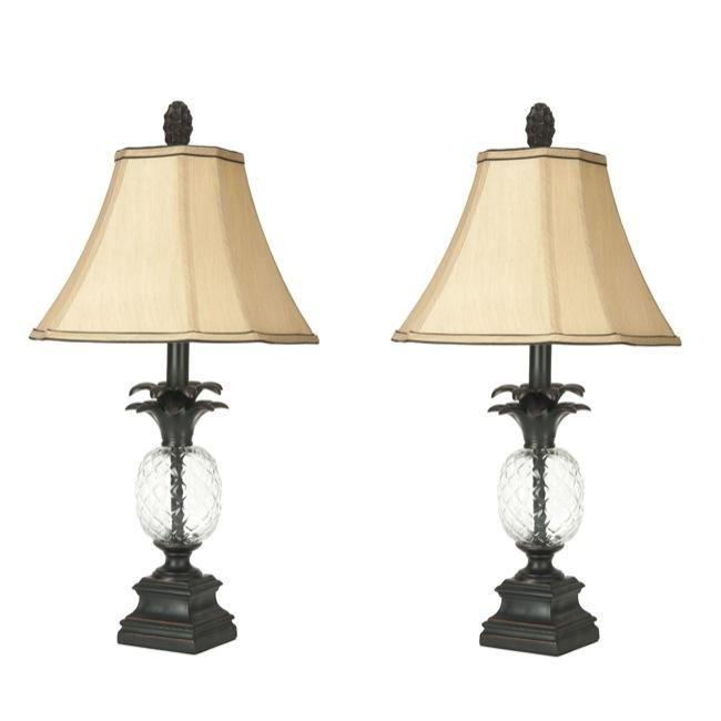 Safavieh Indoor 1-light Antiqued Bronze Pineapple Table Lamps (Set of 2)