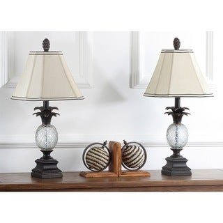 Safavieh Lighting 24-inches Antiqued Bronze Pineapple Table Lamps (Set of 2)