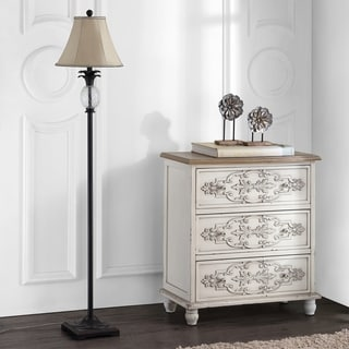"Safavieh Lighting 61-inch Antiqued Glass Pineapple Floor Lamp - 13""x13""x61"""