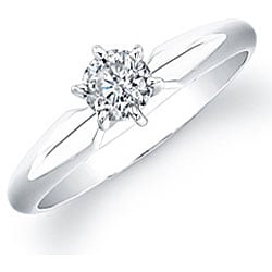 14k White Gold 1/2ct TDW Diamond Solitaire Engagement Ring (I-J, I1-I2)