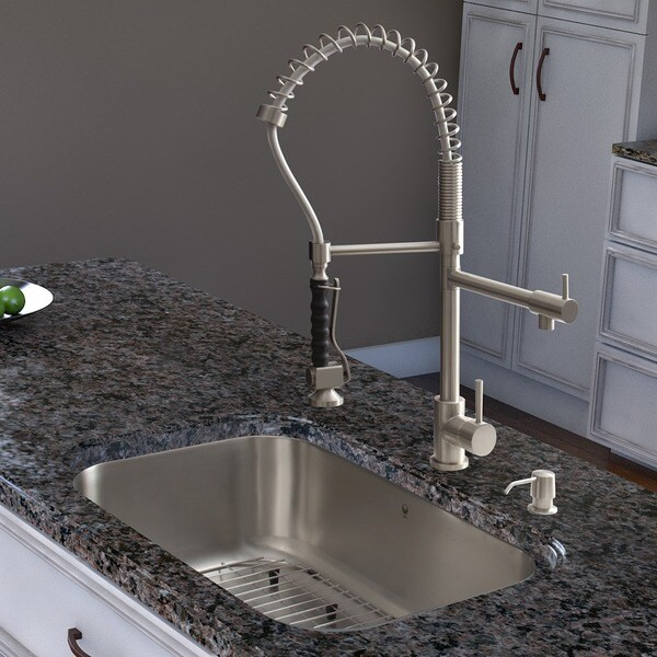 VIGO Stainless Steel Pull-Down Spray Kitchen Faucet